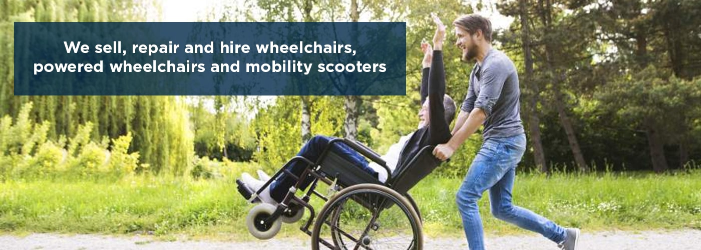 We sell, repair and hire wheelchairs, powered wheelchairs and mobility scooters